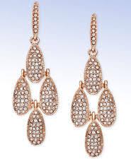 teardrop chandelier earrings inc international concepts gold tone wine