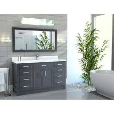 Studio Bathe Kalize by Studio Bathe Calais 60 In Pepper Grey Single Vanity With Mirror