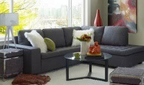 charcoal gray sectional foter