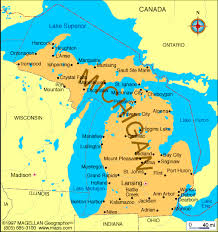 map of michigan michigan state map