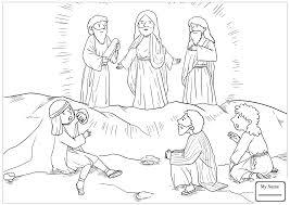 Christianity Bible Jesus Mission Period Jesus Meets Zacchaeus Zacchaeus Coloring Page