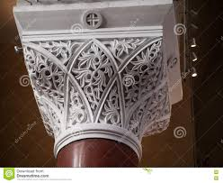 beautiful ornaments marble support column stock photo image