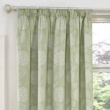 How To Fit Pencil Pleat Curtains Hydrangea Soft Green Luxury Jacquard Lined Pencil Pleat Curtains