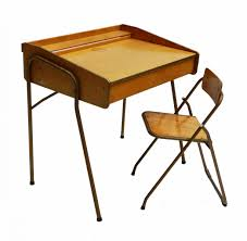 french mid century childs desk and folding chair from brevete