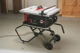 Job Site Table Saw Bosch Reaxx Portable Jobsite Table Saw Bonjourlife