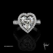 Heart Shaped Wedding Rings by Open Frame Heart Shaped Engagement Ring