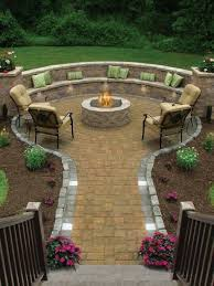 Firepit Seating This Is What I Want For My Backyard Now To Figure Out How To Do