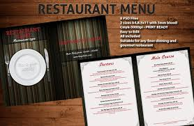 photoshop menu template restaurant menu templates psdbucket