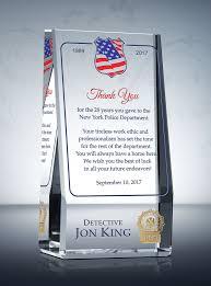 retirement plaques wedge policeman retirement plaque diy awards