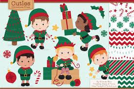cute christmas elves u0026 patterns illustrations creative market
