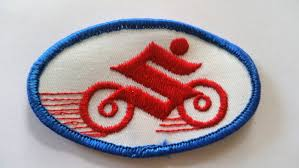 suzuki symbol 1970s vintage suzuki motorcycle logo patch suzuki embroidered