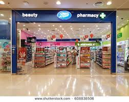 shop boots pharmacy suratthani june 11 exterior view stock photo 198017516
