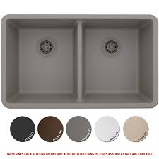 Composite Kitchen Sink Reviews by Lexicon Platinum Quartz Composite Kitchen Sink Large Double Bowl