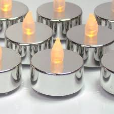 graduation candles silver tealight candles set of 24 flameless led