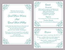 diy wedding invitation templates diy wedding invitation template set editable word file instant