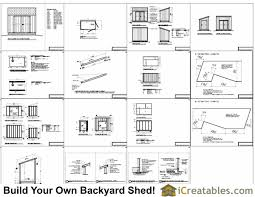 Storage Building Floor Plans 6x10 Lean To Shed Plans Icreatables Com