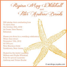post wedding reception wording exles wedding invitation wording for destination wedding yourweek
