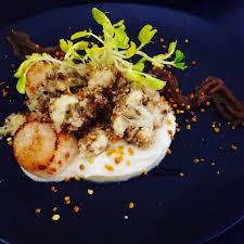 cuisine choux fleur recette de jacques snackées purée de choux fleur condiment