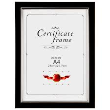 certificate frame a4 certificate frame