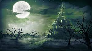 halloween ghost and haunted house background a halloween tale fiery pen