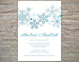 Snowflake Wedding Invitations Winter Wedding Invitations 4 Winter Snowflake Wedding