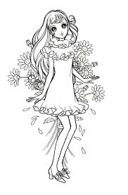825 best anime u0026 shojo coloring book images on pinterest