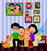 cartoon family living room vector u0026 photo bigstock