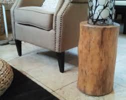 Wood Block Side Table Tree Trunk Side Table Roselawnlutheran