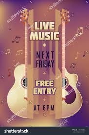 musician concert show poster acoustic guitar stock vector