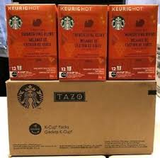nib starbucks thanksgiving blend k cup of 6 boxes 72 count