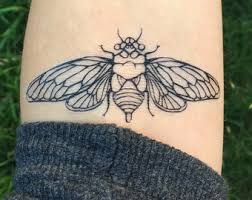 black witch moth temporary tattoo black line tattoo winged