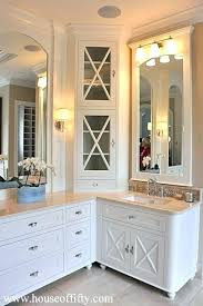 Cabinets For Bathrooms Bathroom Corner Vanity Cabinetsvanities Corner Vanity Cabinets For