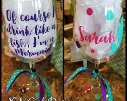Wine Glass Gifts Seahorse Wine Glass Etsy