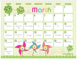 10 best images of cute calendar templates free cute printable