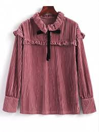 velvet blouse ruffle sleeve velvet blouse pinkish brown blouses xl zaful