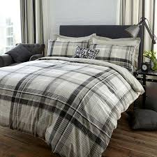 Dunelm Mill Duvets Salvage Check Grey Bed Linen Collection Dunelm