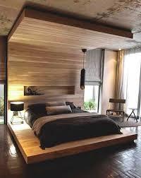 chambre deco bois déco chambre cosy avec monobloc bois comme baldaquin