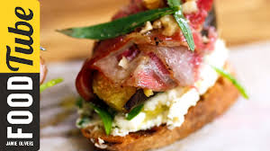 Tasty Dinner Party Recipes - pancetta fig u0026 cheese crostini french guy cooking tasty recipes