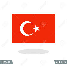 Flag Ottoman Turkey And Ottoman Empire Flag Icon Vector Illustration