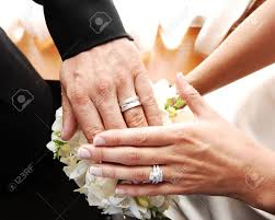 finger wedding rings images A just married couple shows there nice wedding rings on there jpg