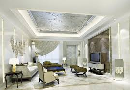 Interior Decorative Ceiling Tiles Living Room With Floral Drop