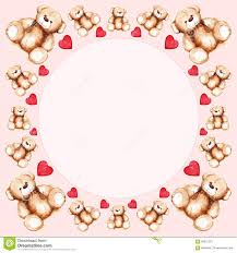 teddy for s day lovely teddy s day frame stock