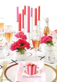 valentines day table runner a modern valentines day dinner party party ideas party printables