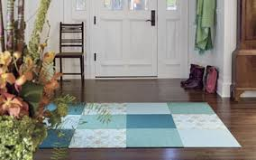 Area Rug Square Carpet Tiles As Area Rug Square Blue White Flower Pattern
