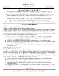 Technical Product Manager Resume Sample Product Development Resume Sample Free Apparel Product Developer