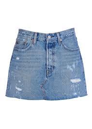 light wash denim skirt new collection short worn denim skirt american wild levi s women