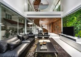 a minimalist u0027s dream home in singapore with a privacy wrapped