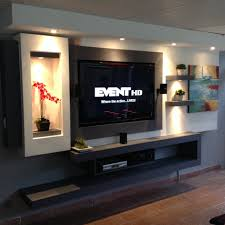 Led Tv Table Decorations Tv In Wall Made With Gypsum Board Family Rooms Pinterest Tvs