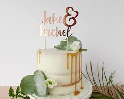 initials cake topper personalised couple names arrow cake
