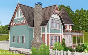 mod the sims netley house queen anne victorian